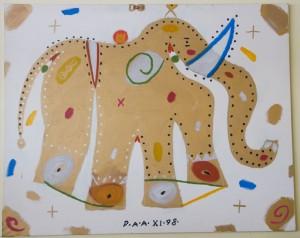 Diego Arango Arango - Elefante Dordado 130x162cm
