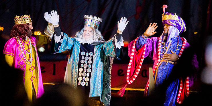 Die Heiligen Drei Könige Weihnachten wird in Spanien am 05. und 06. Januar gefeiert