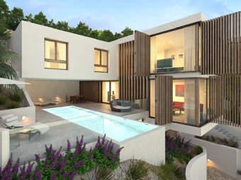 Modernes Villenprojekt in bevorzugter Lage mit Blick über die Bucht von Santa Ponsa