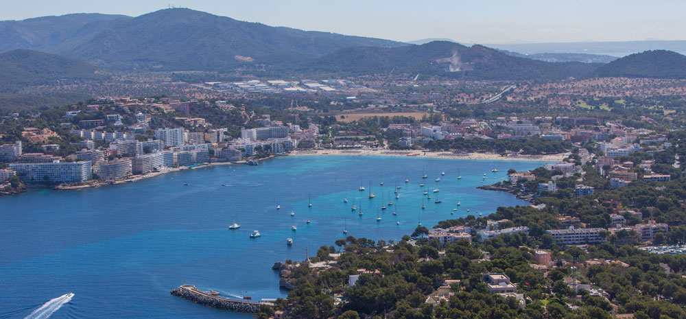 Immobilien Santa Ponsa - Ein Blick auf die Bucht