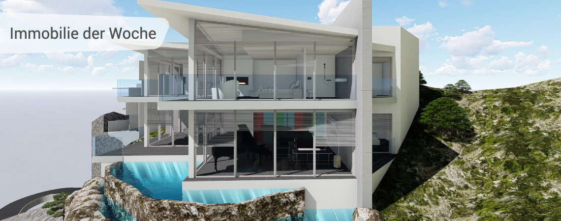 Villa mit sensationeller Aussicht in exponierter Lage